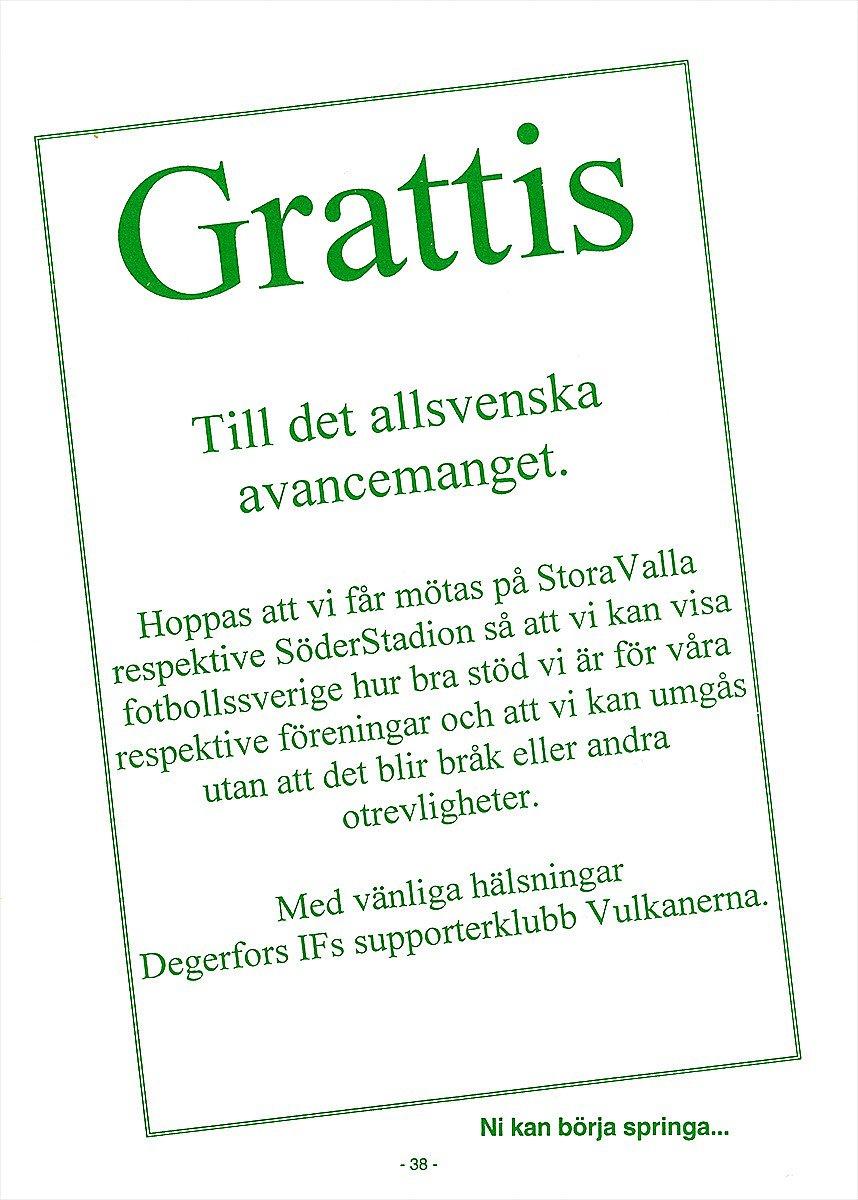 "bra grattis texter Supporternostalgi med ""Bajen Fanzine Greatest Hits  bra grattis texter"